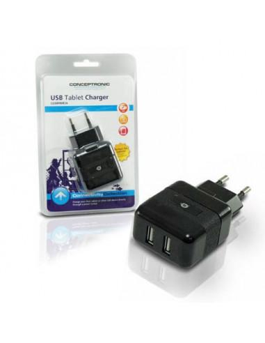 CARGADOR USB CONCEPTRONIC 5V 2A DOBLE